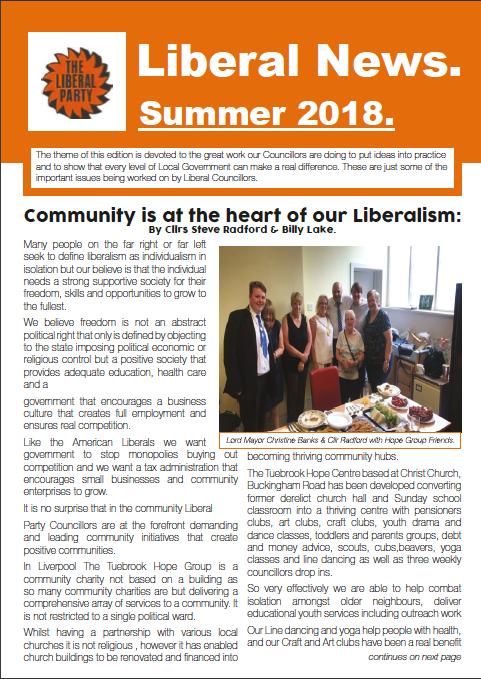 Liberal News – Summer 2018