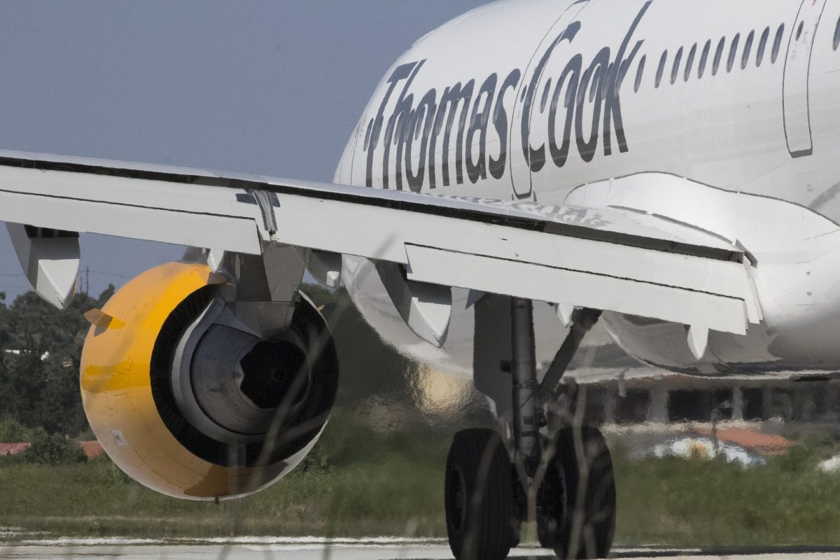 Failure of Thomas Cook as it enters Administration