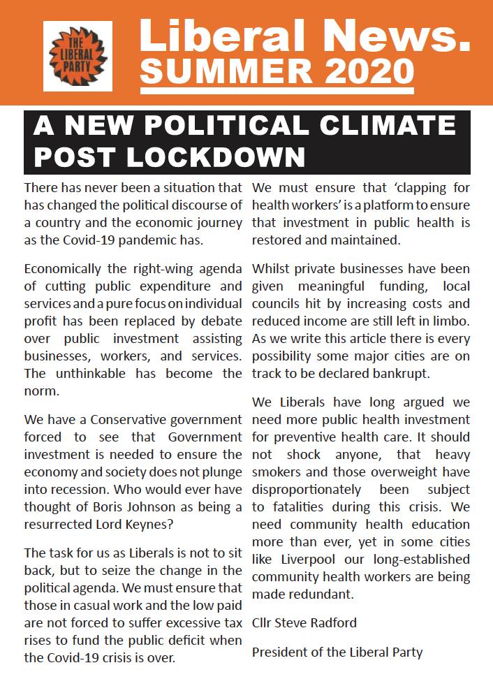 Liberal News – Summer 2020